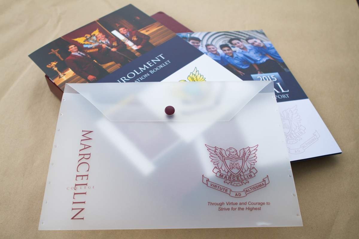 Marcellin College Branded Materials